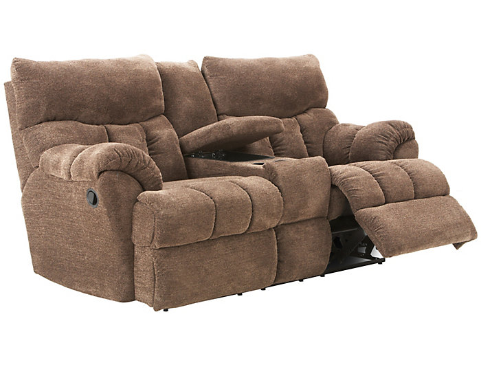 Southern Motion Refueler Reclining Loveseat, Brown, , large