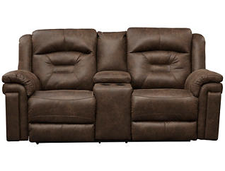 Southern Motion Avatar Dual Power Loveseat, Brown, , large