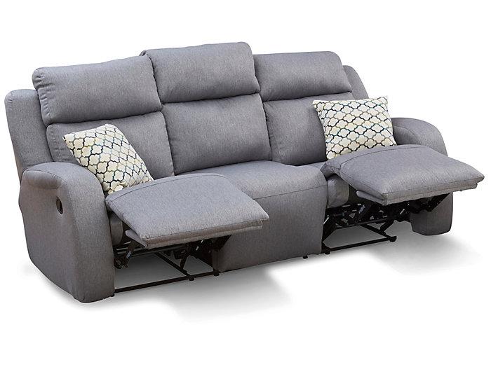 Southern Motion Grand Slam Reclining Sofa, Grey, , large