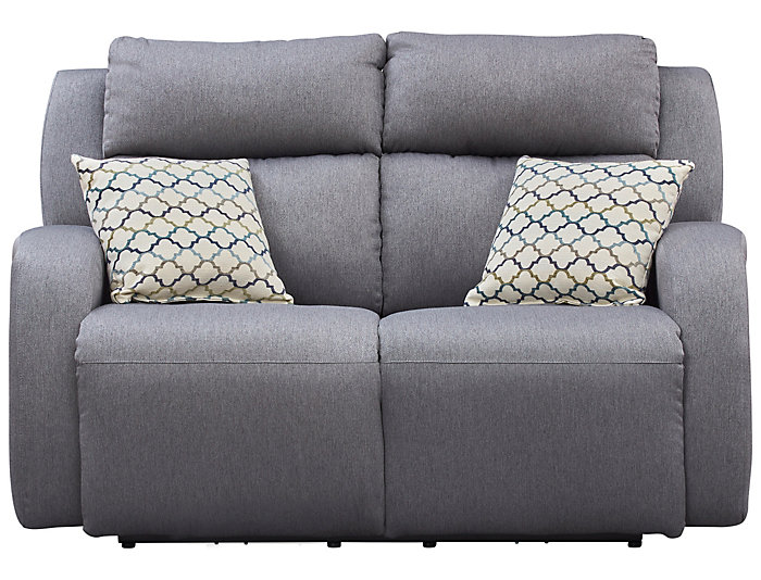 Southern Motion Grand Slam Dual Power Reclining Loveseat, Grey, , large