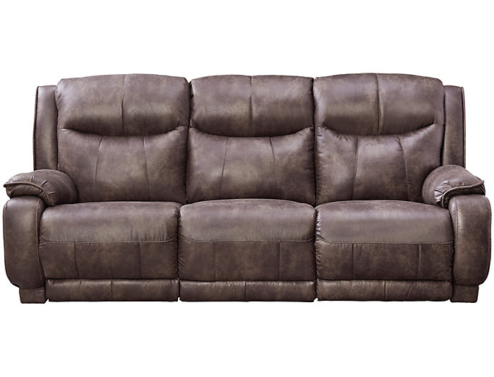 ... Southern Motion Velocity Dual Power Reclining Sofa, Grey, , Large ...