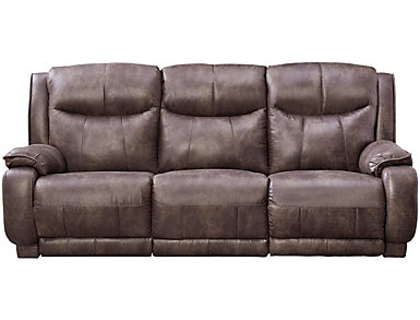 Southern Motion Velocity Dual Power Reclining Sofa, Grey, , Large