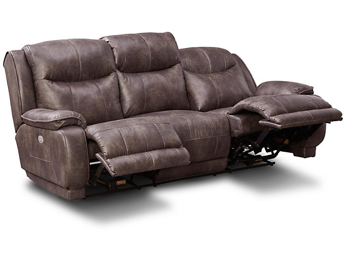 Southern Motion Velocity Dual Power Reclining Sofa, Grey, , Large ...