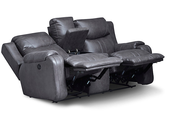 Southern Motion Marvel Power Console Loveseat, Grey, , large