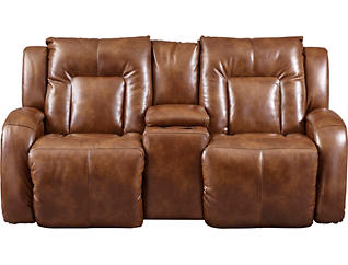 Kingston Reclining Loveseat, Brown, , large