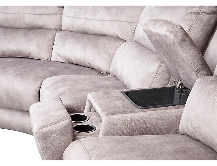 6 Piece Sectional with Left-Arm Facing Chaise, Grey, , large
