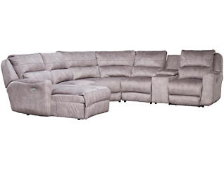 Producer 6 Piece Left-Arm Facing Chaise Reclining Sectional, , large