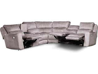 Producer 6 Piece Power Reclining Sectional, , large