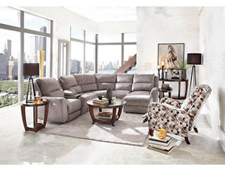Producer 6 Piece Right-Arm Facing Chaise Reclining Sectional, , large