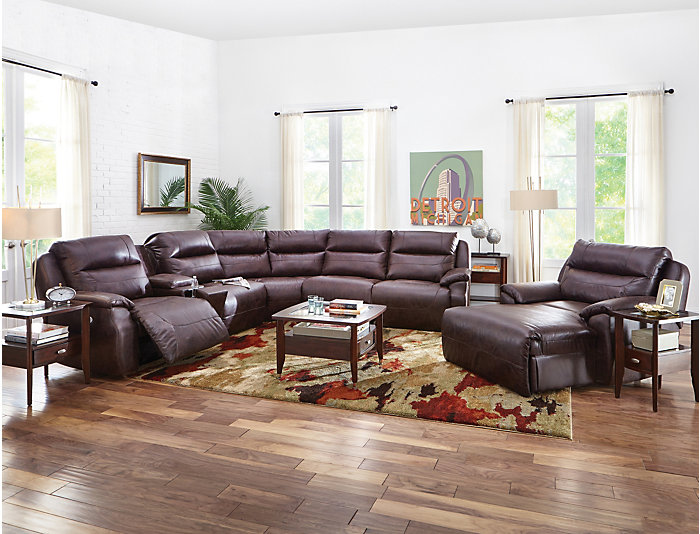 6 Piece Power Sectional, , large