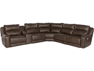 Maximus 6 Piece Power Reclining Sectional, , large