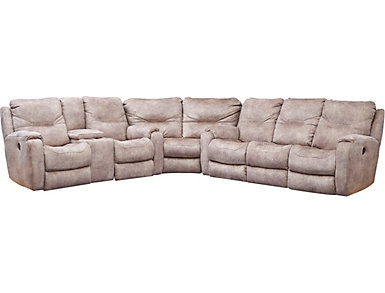 Royal Flush 3 Piece Sectional, Taupe, , large
