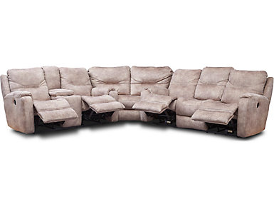 Royal Flush 3 Piece Reclining Sectional, , large