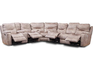 Royal Flush 3 Piece Dual Power Reclining Sectional, , large