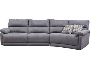 3 Piece Sectional W/Dual Power, , large