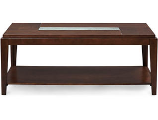 Ice Rectangular Coffee Table, Brown, , large