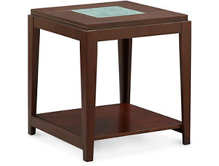 Ice Rectangular End Table, Brown, , large
