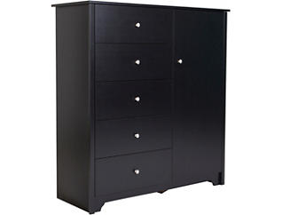 Vito Black Door Chest, , large