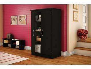 Bruno Black Storage Cabinet, , large