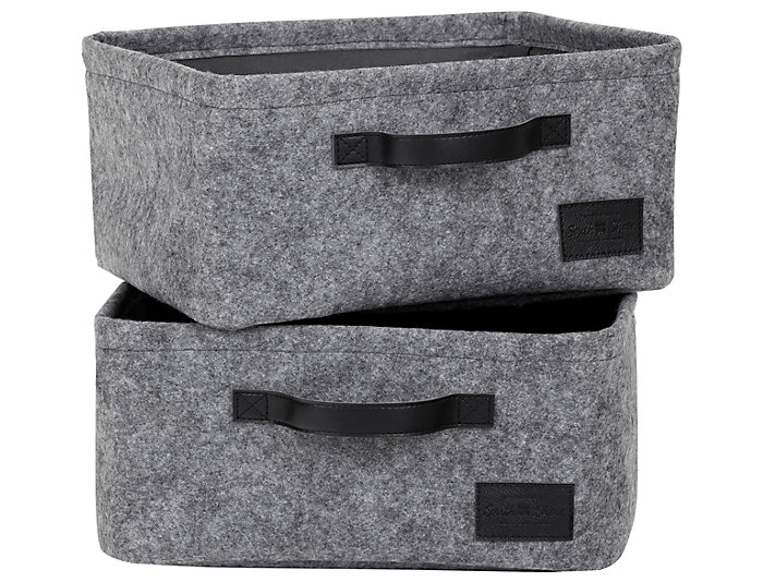 Small Felt Baskets (Set of 2), , large