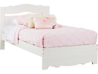 Lily Rose White Wash Twin Bed, , large