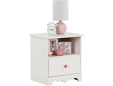 Lily Rose White Nightstand, , large