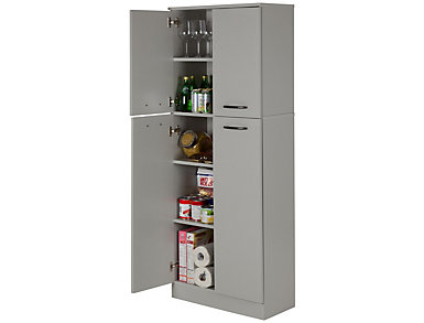 Axess Soft Gray Storage Pantry, , large