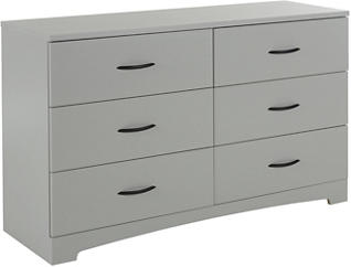 Step 1 Gray 6-Drawer Dresser, , large