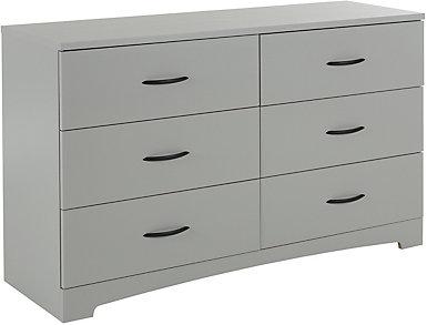 Step 1 Gray 6-Drawer Dresser, , large