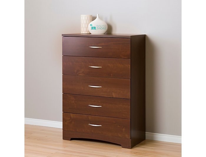 Step 1 Cherry 5-Drawer Chest, , large