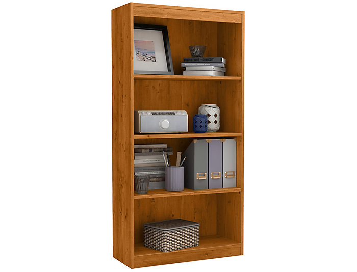 """Axess 56"""" Pine Bookcase, , large"""