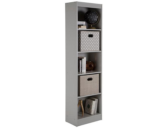Axess Narrow Grey Bookcase, , large