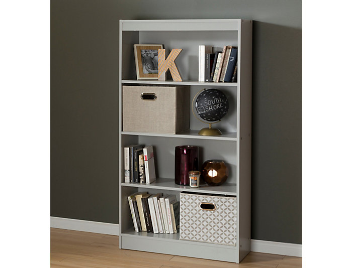 """Axess 56"""" Grey Bookcase, , large"""