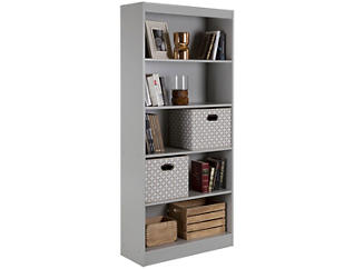 "Axess 69"" Grey Bookcase, , large"