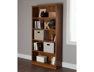 "Morgan 71"" Cherry Bookcase, Brown, large"