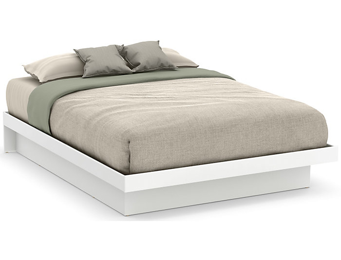 Basic White Queen Platform Bed | Art Van Home
