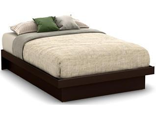 Basic Full Brown Platform Bed, , large