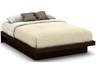 Basic Queen Brown Platform Bed, , large