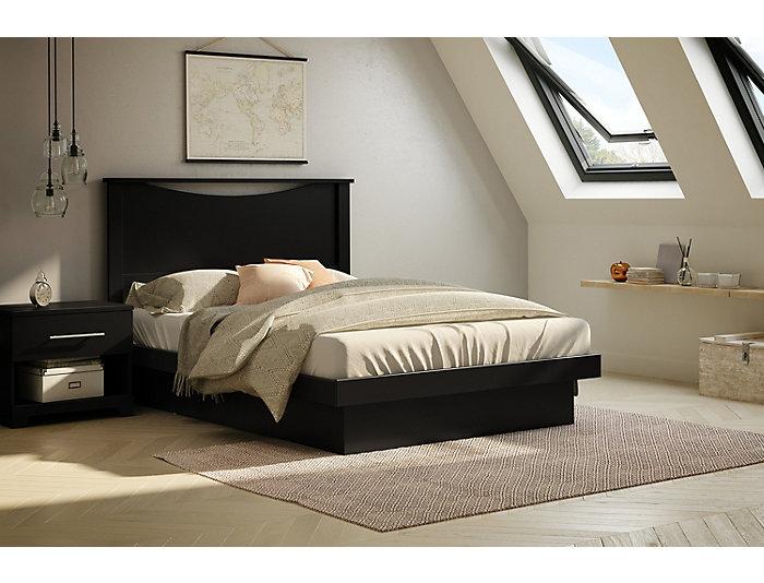 Basic Full Black Platform Bed, , large