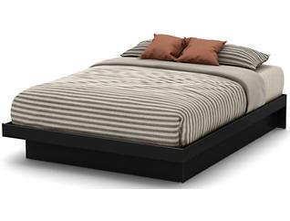 Basic Black Queen Platform Bed, , large