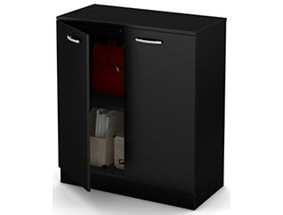 Thea Storage Cabinet, Black, , large