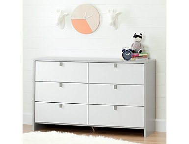 Cookie Gray and White Dresser, , large