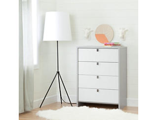 Cookie Gray 4-Drawer Chest, , large