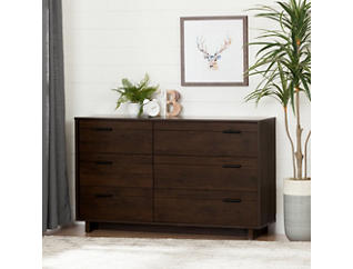 Fynn Brown 6 Drawer Dresser, , large