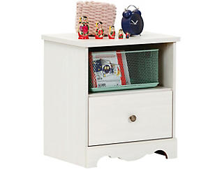 Caravell White Nighstand, , large