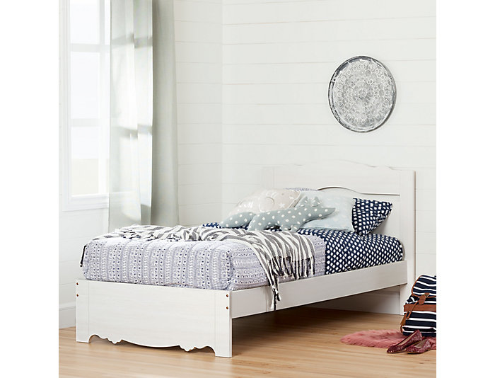 Caravell Twin White Wash Bed, , large