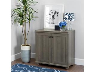 Viviano Gray Storage Cabinet, Grey, large