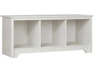 Nash Cubby Storage Bench, White, , large