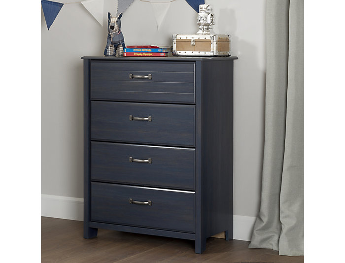 Ulysses Blue 4-Drawer Chest, , large