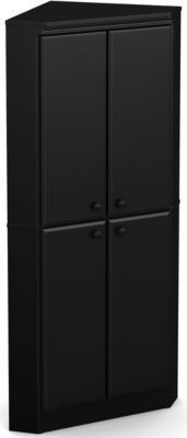 Willa 4 Door Armoire, Black, swatch
